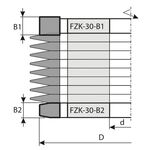Заплечиковые фрезы FABA FZK-30-B1/B2 для сращивания на закрытый шип