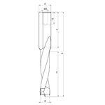 Глухие сверла FABA WN-01 с напайками для сверлильно-присадочного станка