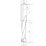 Глухие сверла FABA WN-04 с напайками для сверлильно-присадочных станков
