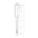Сквозные сверла FABA WP-15 монолитные для сверлильно-присадочных станков