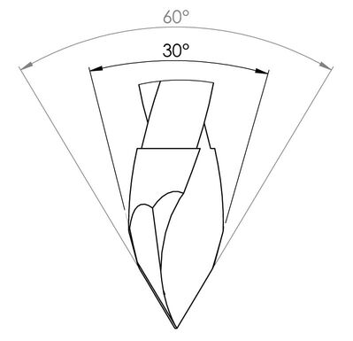 Сверла FABA WP-16 с двойным углом заострения